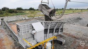 420TPH mobile unit fed by dragline